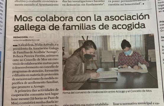 Firma do convenio de colaboración entre ACOUGO e o Concello de Mos